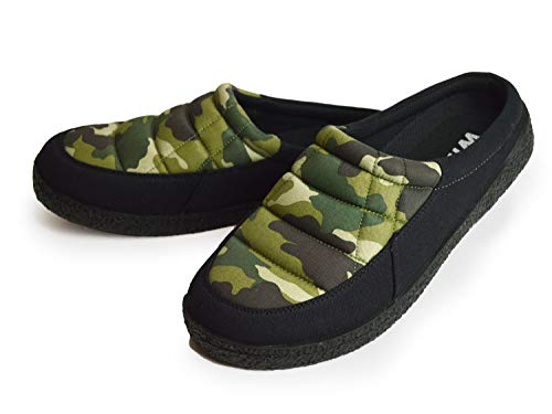 [ウイルソン] 防寒 メンズ ダウンシューズ キルティング ウィンターブーツ サボサンダル ウィンターブーツ 靴 メンズシューズ スリッパ スリッポン 保温 防滑 軽量 Camo L(25.5-26cm)