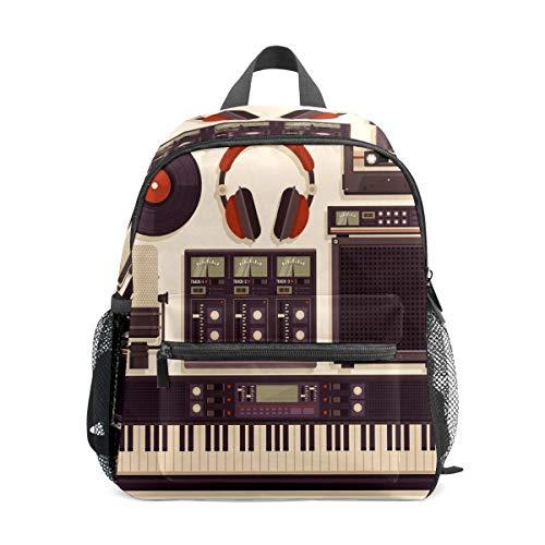 Preshool Rucksäcke Retro Musik Studio Piano Tap Muster Kleinkind Mini Schultasche Kinder Daypacks für Jungen Mädchen