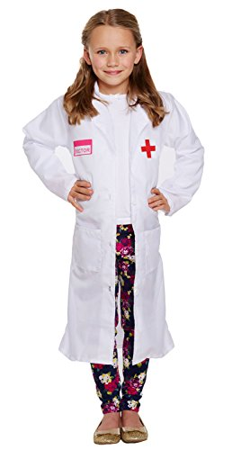 Henbrandt Costume Enfant Docteur Fille Taille Moyenne Age 7 - 9 Ans