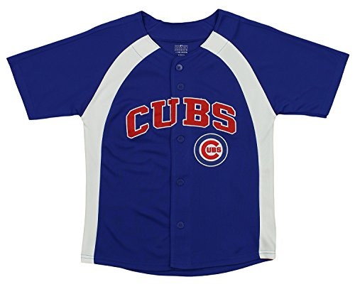 Outerstuff MLB Youth Boys Blank Baseball Jersey, Various Teams (Chicago Cubs, Small (8))