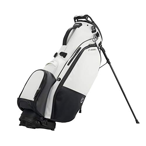 Vessel Player 2.0 Stand Golf Bag White/Black 14-Way (White/Black 14-Way)