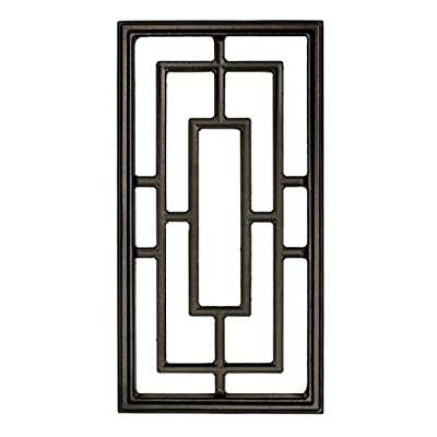 "Nuvo Iron Rectangle Decorative Insert for Fencing, Gates, Doors, Home, Garden 17"" X 9"" ACW57"