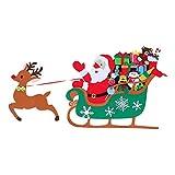 BESPORTBLE 1 Juego de Navidad Santa Trineo Kit de Manualidades Navideñas Manualidades Y Manualidades Santa Claus en Trineo de Renos Juego de Espuma Actividad para Niños Y Niños Pequeños