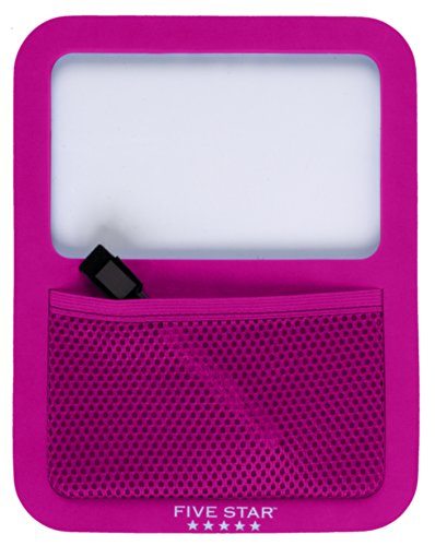 Five Star Locker Accessories, Locker Dry Erase Board with Storage Pocket, Magnetic, Berry Pink/Purple (72594)