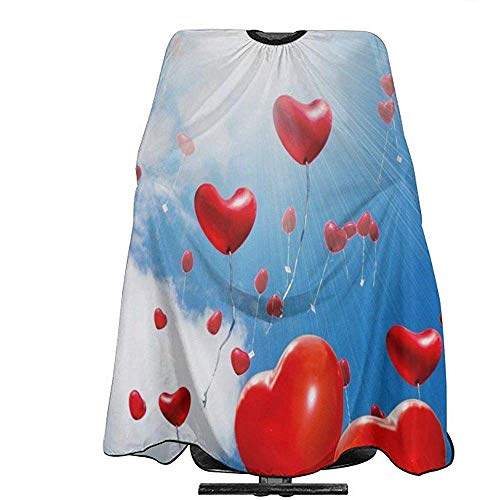 Salon Cape Flying Love Balloon Unique kappersschort polyester tondeuse voor volwassenen haarknipomhang salonomhang