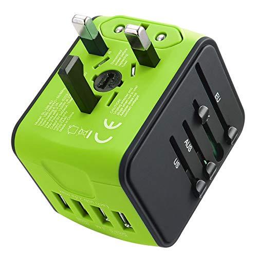 Travel Adapter International Tavel Power Adapter 4 USB Worldwide Travel Charger Universal...