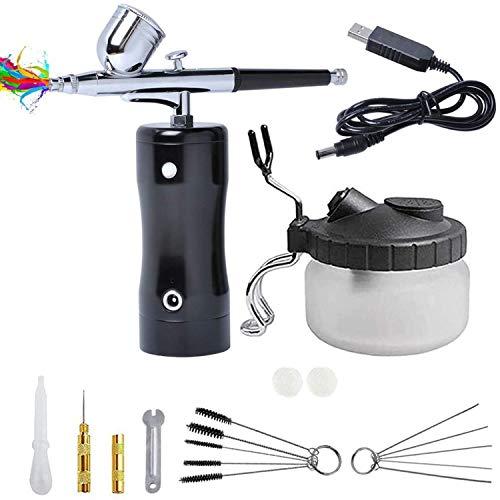 Aerografo Compresor Profesional de Mini USB con Kit de Limpieza de Aerógrafo...