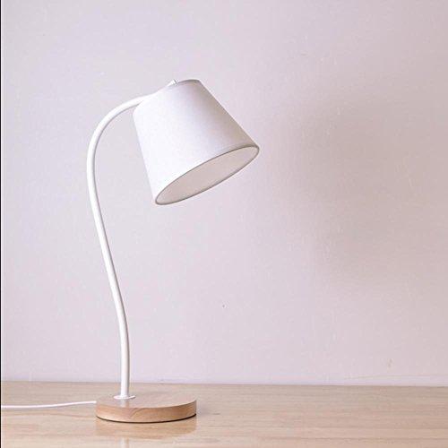 LANS table lamp bedroom bedside creative personality simple desk children's dormitory learning desk light , white