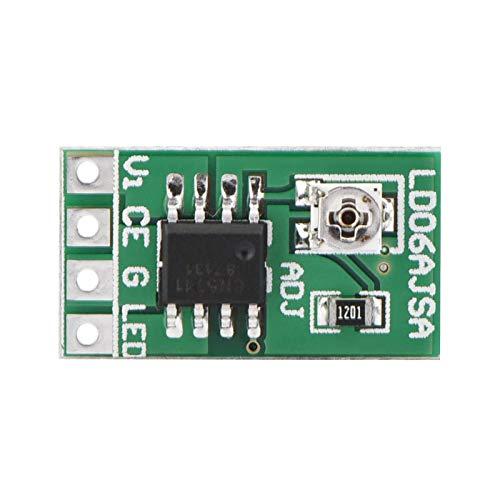 Módulo de controlador LED, DC 3.3V 3.7V 5V Controlador LED 30-1500mA Módulo ajustable de corriente constante para LED 18650 Li-ion