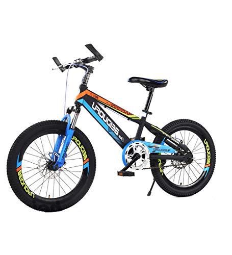 SXMXO Mountainbike Helden Der Welt Jugend Einzelne Geschwindigkeit 16/18/20 Zoll Rad Kohlenstoffstahl Kinder Fahrrad Mädchen Und Jungen Stoßdämpfung in Verschiedenen Größen Erhältlich Blau,20inch
