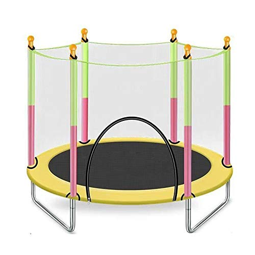 BUSUANZI Trampoline-Children's Trampoline Indoor Outdoor Yard Kids Trampolines With Safety Enclosure Net For Better Bounce Basketball Jump Bounce Training,M
