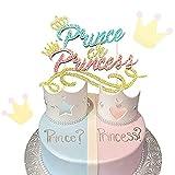 LaVenty Prince or Princess Cake Topper Boy or Girl Gender Reveal Cake Decoration Baby Shower Cake Decoration