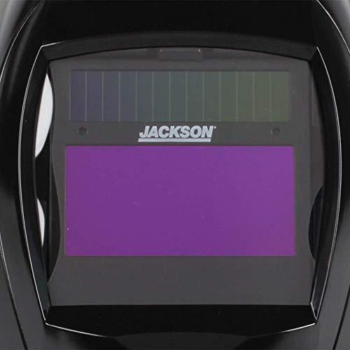 Jackson Safety Lightweight SmarTIGer Variable Auto Darkening Filter Welding Helmet with Balder Technology, Black, Universal Size, 46140