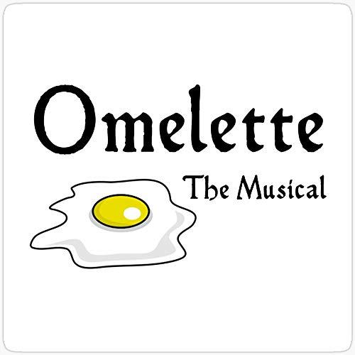 WillettaStore Omelette The Musical! Something Rotten Aufkleber, 3 Stück