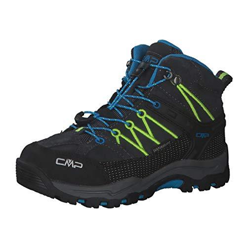 CMP Kinder Trekking Schuhe Rigel MID 3Q12944J Antracite-Yellow Fluo 41