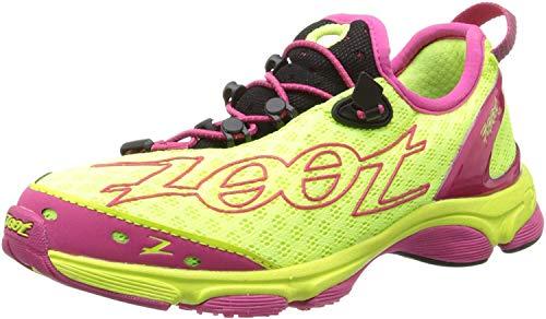 Zoot Women's W Ultra 7.0 Running Shoe,Safety Yellow/Beet/Black,10.5 M US