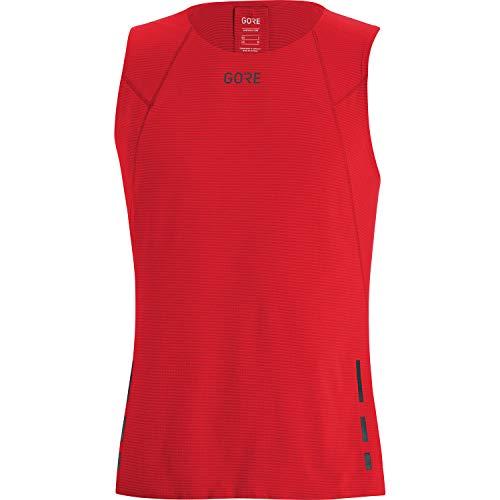GORE WEAR Camiseta de tirantes de running Contest para hombre, L, Rojo