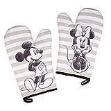 Disney Mickey und Minnie Mouse Ofenhandschuhe, hitzebeständig, 100 % Baumwolle, 2 Stück