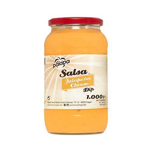 Palapa Jalapenio Cheese Dip | 1000gr | Tex-Mex-Küche | mit Jalapio-Chilis abgeschmeckt | perfekt zu warmen und kalten Speisen| Hervorragender Geschmack