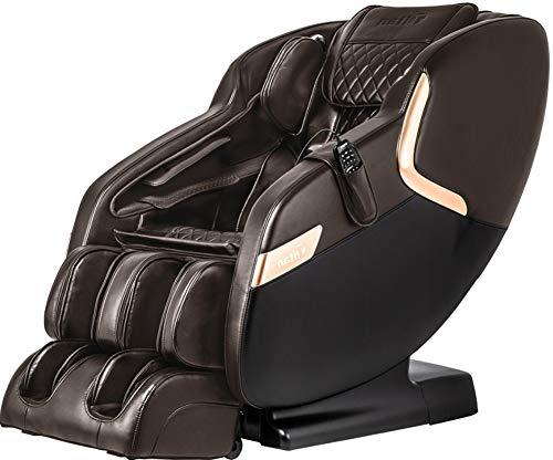 Titan Luca V B Massage Chair, Brown, Advanced L-track Massage, Full Body Airbag Massage, Zero Gravity, Advanced Foot Rollers, Heat On Lumbar, Space Saving Technology, Bluetooth Speakers