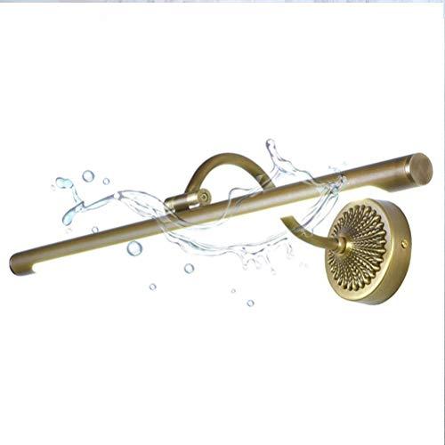 Diseño unico, Luz de espejo Luz Vintage Cuarto de baño Impermeable Lámpara de espejo Antigua Lámpara de baño Lámpara de tocador Lámpara de pared 240 ° Ángulo Ajustable Decorable Luz Neutral Blanco 400