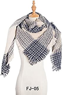 WUNONG-AU Scarf Ladies Increase Thick Fashion Keep Warm Shawl Europe and America Autumn Winter Large Square Scarf (Color : Beige, Size : 135cm)