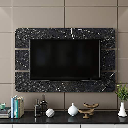 Homemania Pannello Porta TV, Truciolare Melaminico, Nero, 150 x 4 x 96 cm