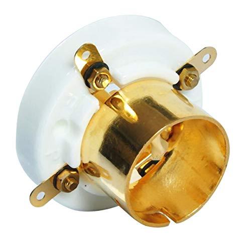 SUCAN 2 Stücke 4 Pin Keramikrohr Sockel Für 2A3 300B 274A S4U Basis Vintage Verstärker Gold