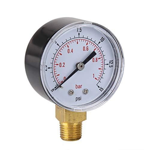 PRENKIN 0-15psi 0-1bar BSPT 50 Millimetri Acqua Aria Metro compressore misuratore di Pressione Discussione Monte Oil Pressure Gauge compressore d'Aria Manometro Tester