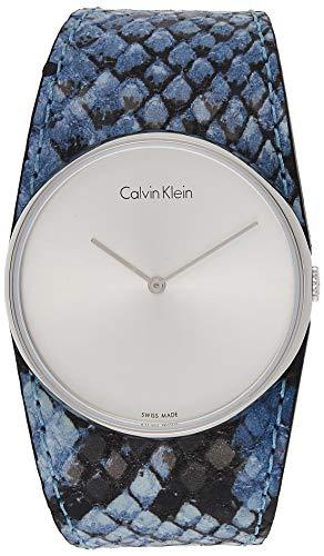 Calvin Klein Reloj Analógico para Mujer de Cuarzo con Correa en Cuero K5V231V6