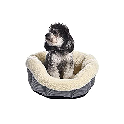 AmazonBasics Round Self Warming Pet Bed For Cat or Dog, 18 x 8 Inches