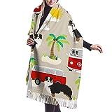 Bufanda de otoño invierno para mujer de pastor australiano verano playa perro australiano bufanda clásica cálida suave manta grande abrigo chal bufandas