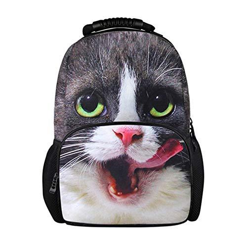 fhdc Zaino Zaino Casual Da Donna Per Ragazze Adolescenti 3D Cat Wolf Zaini Da Viaggio Grandi Borse Da Donna Zaino Studente3172A