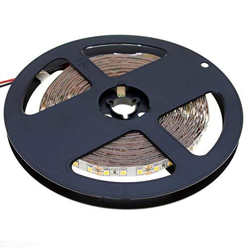 DEMODU® 5m ECO LED-Streifen 24V, kürzbar, dimmbar, 6000k Kaltweiß l Selbstklebendes LED-Lichtband I LED-Band dimmbar l 120 SMD/m 2835 l Helle LED-Streifen für Innenbereich l IP21