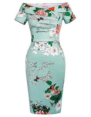 Belle Poque Damenkleider elegant festlich 50s Vintage Retro Rockabilly Kleid Knielang M DEBP117-2