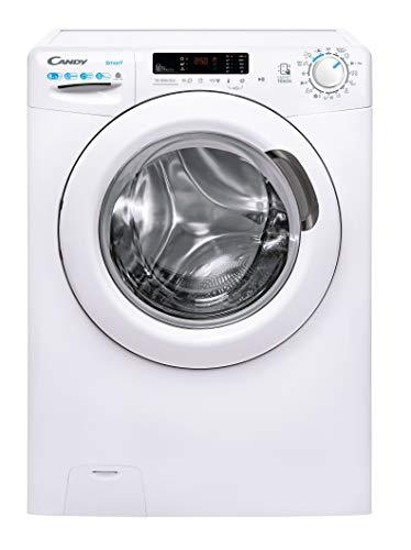 Candy Smart CSWS 4852DWE/1-S, Lavadora secadora, 8+5Kgs, 1400rpm, Función vapor, NFC, Certificado lana, Ciclos rápidos, Clase A, Blanco