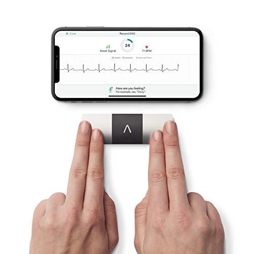 Le KardiaMobile 6L- Enregistreur ECG personnel et marqué CE pour iOS et Android | ECG 6 dérivations sans fil | Détecte la Fibrillation Atriale (FA) en 30 secondes