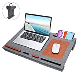 Foldable Laptop Desk Stand - Portable Desk Lap Desk Pillow Cushion Adjustable with Mouse Pad, Laptop Trays Bed Stand for Notebook, MacBook, Foldable Tables Portable