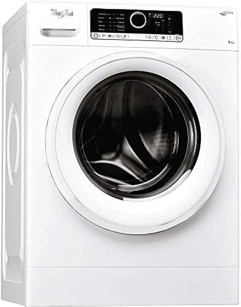 Whirlpool,lavatrice a carica frontale a libera installazione, a+++-50%, 8kg, 1400 giri/min 8003437262937