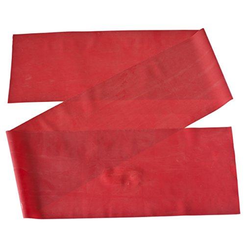 Rotes Gymnastikband für Fitnessübungen