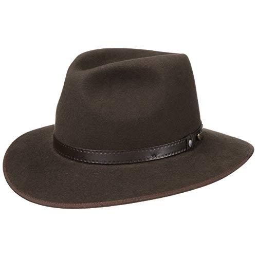 Chapeau The Outback Opal AKUBRA chapeau de feutre chapeau d´exterieur (56 cm - marron)
