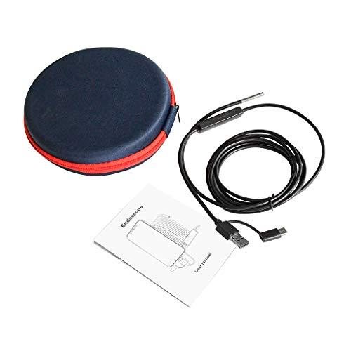 BIlinli USB Endoskop 3 in 1 Endoskop 3,9 mm wasserdichte Inspektionskamera Endoskopkamera Otoskop für Android Phone Windows PC Mac