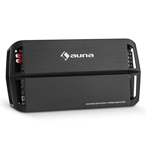 auna AMP490BK Transformador para Coche 4 Canales (360W Potencia, Amplificador A/B puenteable...