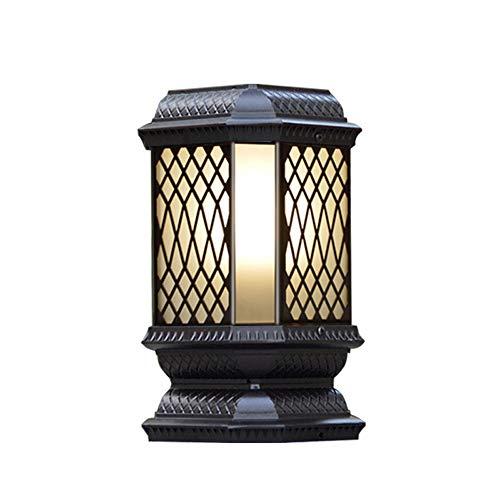 Mogicry Énergie Solaire extérieure de ménage décoration Colonne lumière IP43 Simple Colonne étanche Phare en Aluminium LED étanche à la Pluie en Verre trempé Illumination Jardin Patio Lampadaire