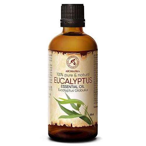 Eucalyptus olie - etherische olie 100ml, 100% puur & natuurlijk, essentiële olie - aromatherapie - geurolie - geurverspreider - ontspanning - toevoegen aan bad & cosmetica - massage - wellness - aroma lamp of elektrische diffuser