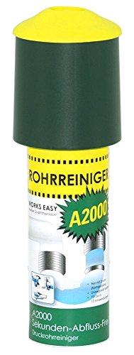purclean Rohrreiniger A2000 mit 100 ml - Der Abflussreiniger macht Pümpel, Pömpel u. Rohrreinigungsspirale überflüssig!