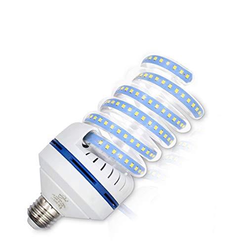 OUYIDE 200 Watt Equivalent A25 Spiral LED Bulbs 24W Daylight 5000K 2640 Lumens, LED Corn Light Bulbs e26 e27 Medium Base, LED Garage Light, Non-Dimmable, UL Listed
