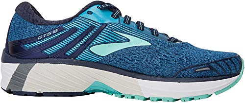 Brooks Damen Adrenaline Gts 18 Laufschuhe, Blau (Navy/teal/mint 1b495), 36.5 EU