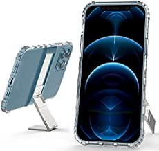 Kickstand Shockproof Case Compatible for iPhone 12 Pro Max Adjustable Kickstand Slim Shockproof Protective Clear Phone Case 6.7 Inch (iPhone 12 Pro Max)