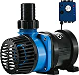 Current USA eFlux DC Flow Pump with Flow Control 1050 GPH | Ultra Quiet, Submerisble or External Installation | Safe for Saltwater & Freshwater Systems